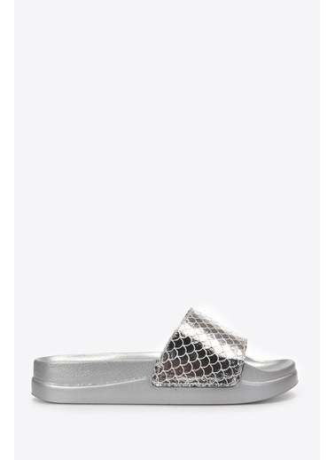 Vizon Ayakkabı Terlik Gümüş